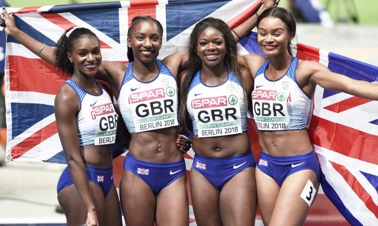 GB women 4x100m berlin 2018 by mark shearman