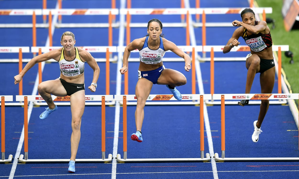 Katarina Johnson-Thompson enjoys strong heptathlon start in Berlin