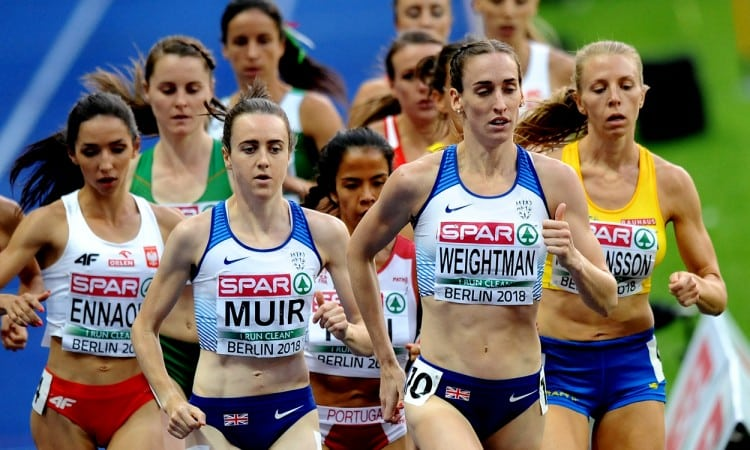 Laura Muir and Laura Weightman Berlin 2018 by Mark Shearman