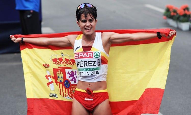 Maria Perez Berlin 2018 race walk by Mark Shearman