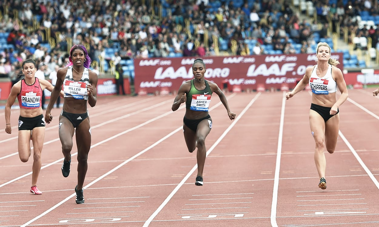Shaunae Miller-Uibo wins sprint showdown in Birmingham