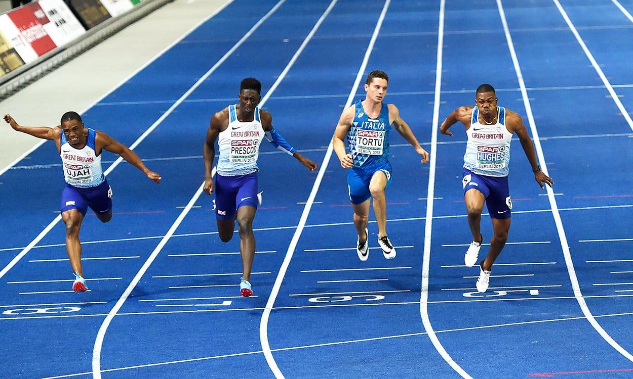 Zharnel Hughes beats Reece Prescod to European 100m title