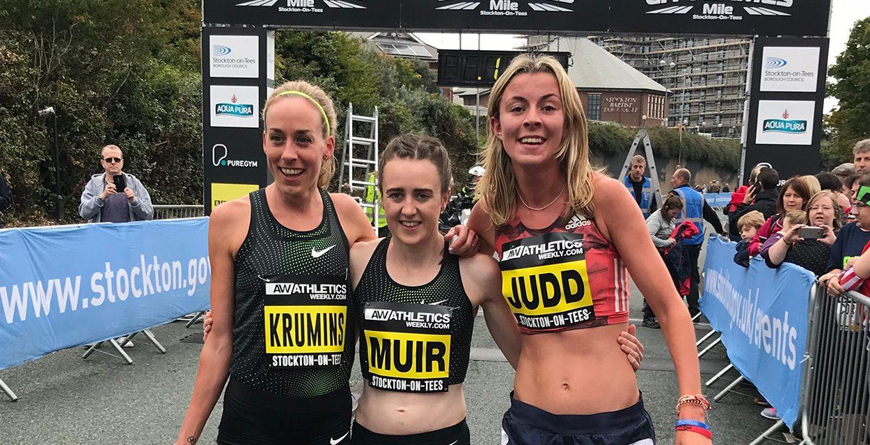 Laura Muir and Jordan Williamsz win Great North CityGames mile