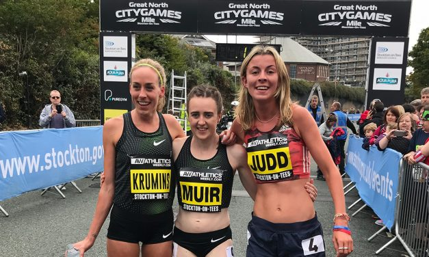 Laura Muir and Jordan Williamsz win Great North CityGames mile