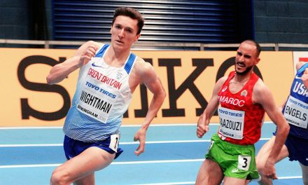 Jake Wightman breaks British indoor 1000m best in Boston