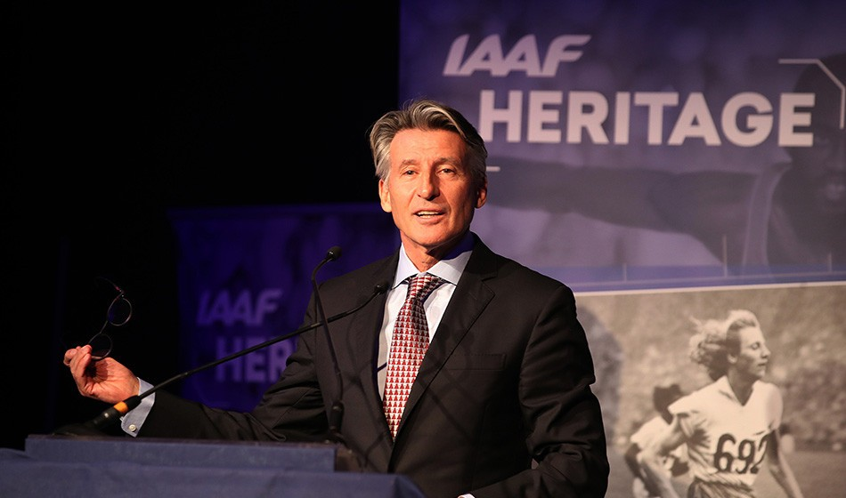 Seb Coe launches IAAF World Athletics Heritage Plaque