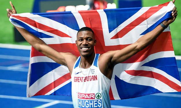 Zharnel Hughes has sights set on Doha double