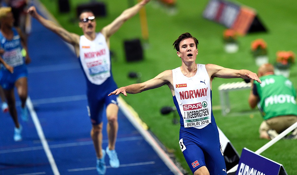 Jakob Ingebrigtsen storms to 1500m win in Dusseldorf