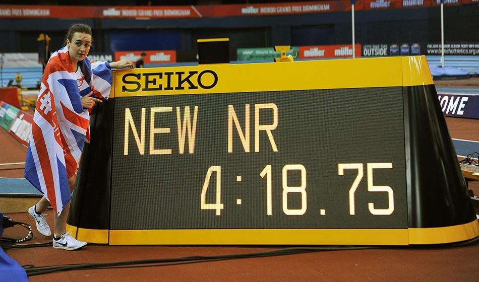 Laura Muir breaks British records in Birmingham