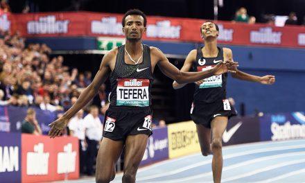 World indoor 1500m record for Samuel Tefera