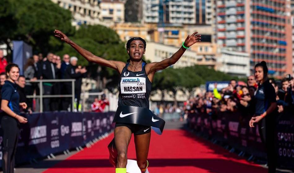 Sifan Hassan and Julien Wanders set world 5km records in Monaco