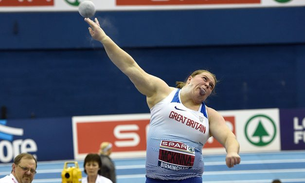 Sophie McKinna wins UK shot put title with big throw