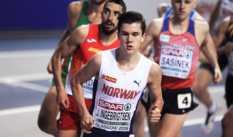 Jakob Ingebrigtsen on track for historic European indoor double