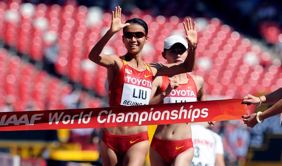 Liu Hong breaks world 50km race walk record