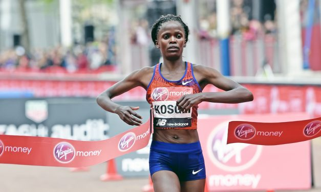 Brigid Kosgei powers to women's win in London