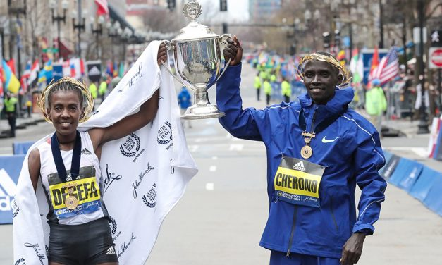 Worknesh Degefa and Lawrence Cherono win Boston Marathon