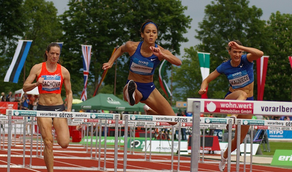 Katarina Johnson-Thompson leads after day one in Götzis