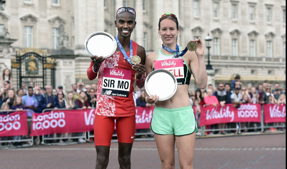 Mo Farah and Steph Twell retain London 10,000 titles