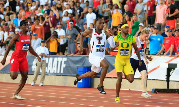 Divine Oduduru storms to fast sprint double at NCAA Champs