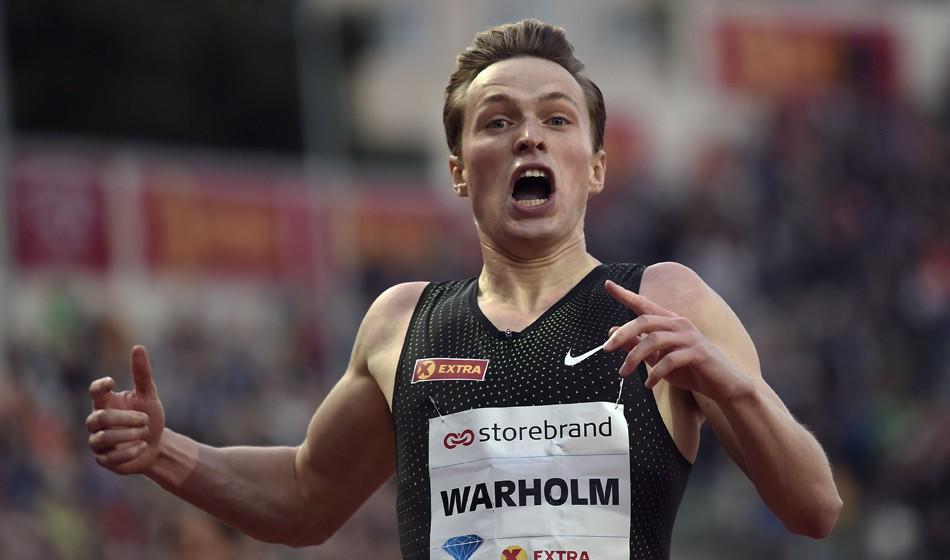 Karsten Warholm breaks European 400m hurdles record in Oslo
