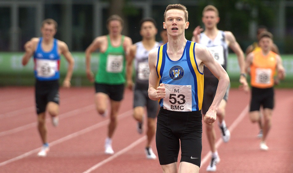 Max Burgin breaks UK under-18 800m best in Loughborough