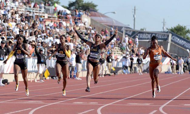 Sha'Carri Richardson runs record-breaking NCAA sprint double