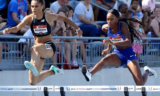 Dalilah Muhammad breaks world 400m hurdles record