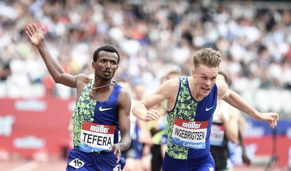 Samuel Tefera captures Emsley Carr Mile crown