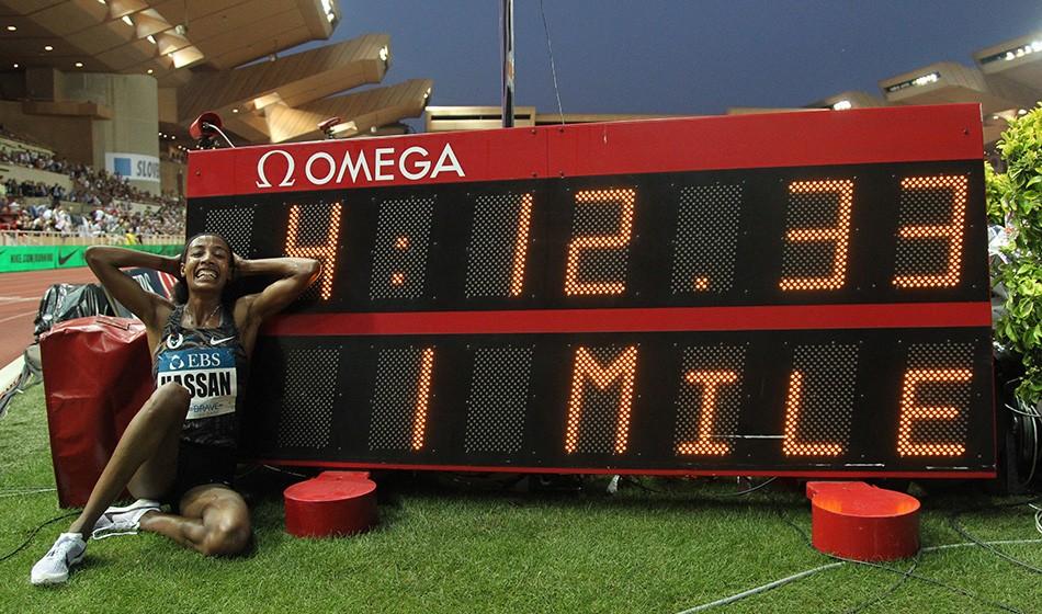 Sifan Hassan breaks mile world record in Monaco