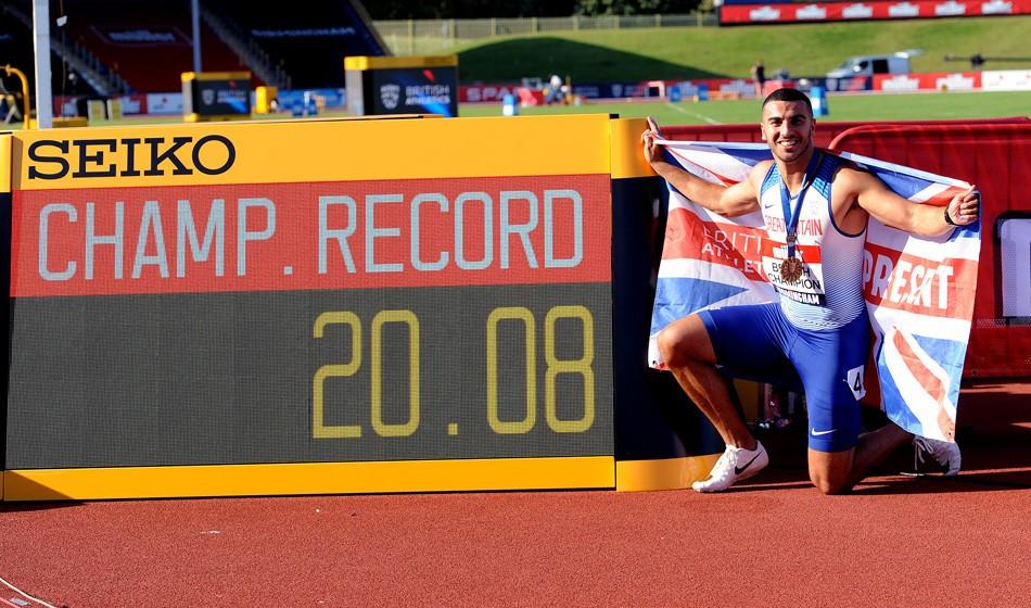 Adam Gemili smashes 200m championship best