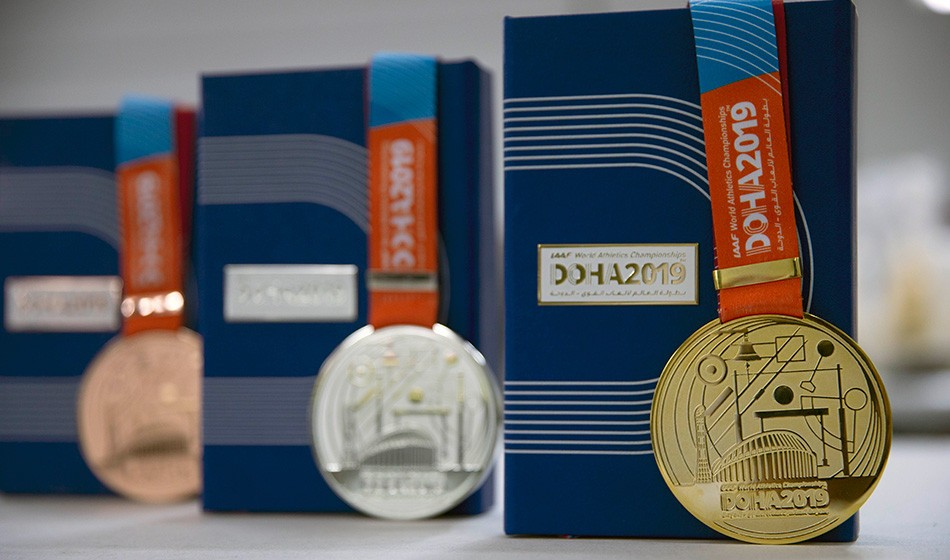 Doha 2019 medals revealed with one month to go