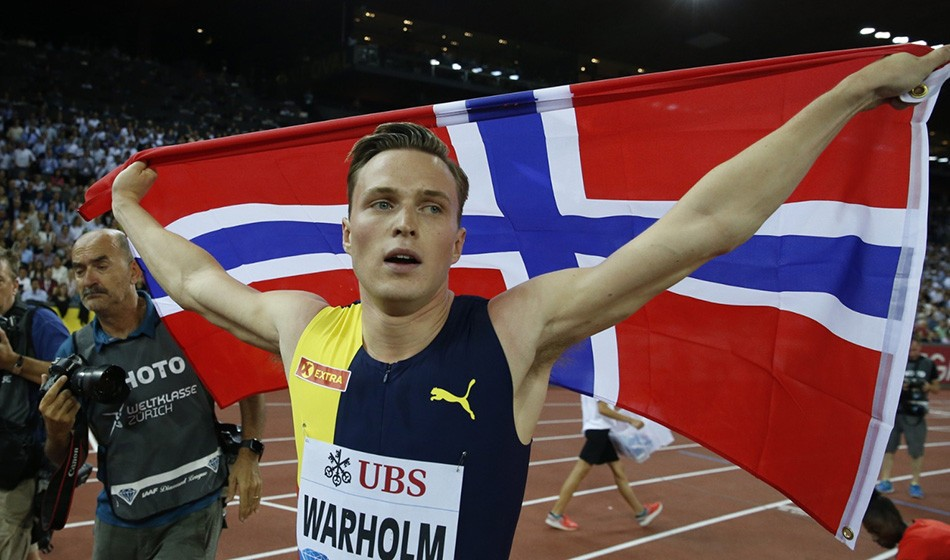 Karsten Warholm claims historic hurdles win in Zurich