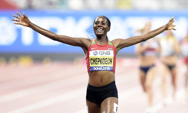 Beatrice Chepkoech runs record to win world steeplechase gold