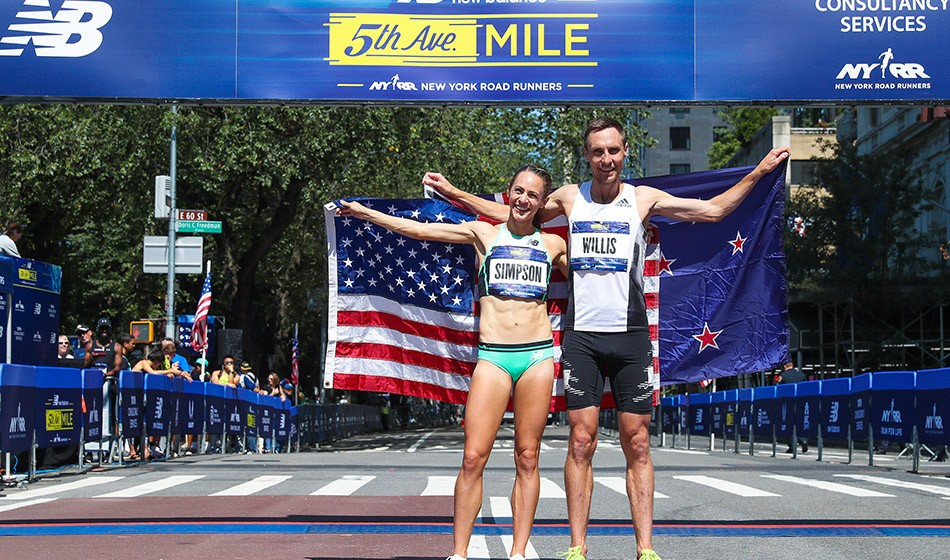 Jenny Simpson and Nick Willis win at 5th Avenue Mile