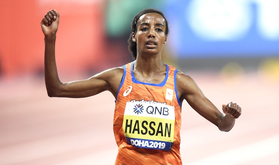 Sifan Hassan storms to world 10,000m title in Doha