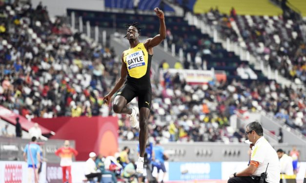 Tajay Gayle soars to long jump gold in Doha