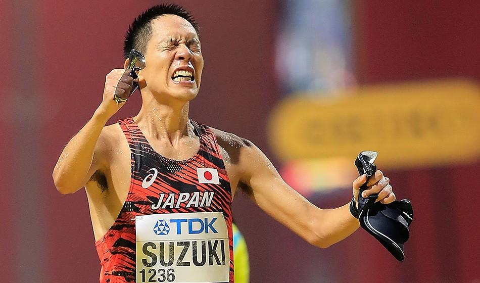 Yusuke Suzuki and Liang Rui win world 50km walk titles