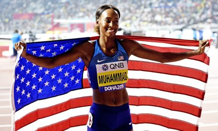 Dalilah Muhammad breaks world record again
