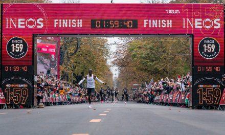 Eliud Kipchoge runs sub-two-hour marathon