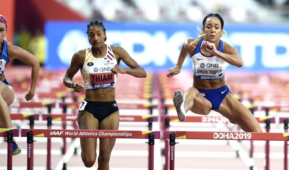 Katarina Johnson-Thompson surges into heptathlon lead