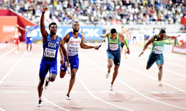 USA and Jamaica sprint to world 4x100m relay golds