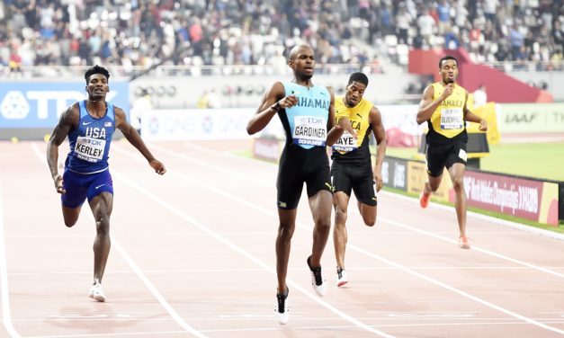 Steven Gardiner goes No.6 all-time at 400m
