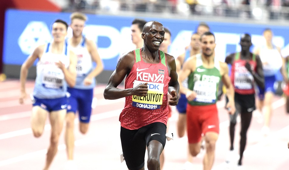 Dominant Timothy Cheruiyot front runs his way to 1500m gold