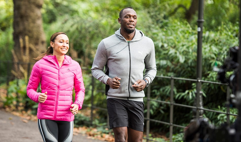 Jessica Ennis-Hill and Usain Bolt help launch 2020 Running World Cup