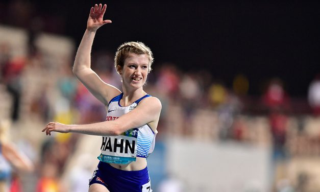 Sophie Hahn storms to world 100m gold in Dubai