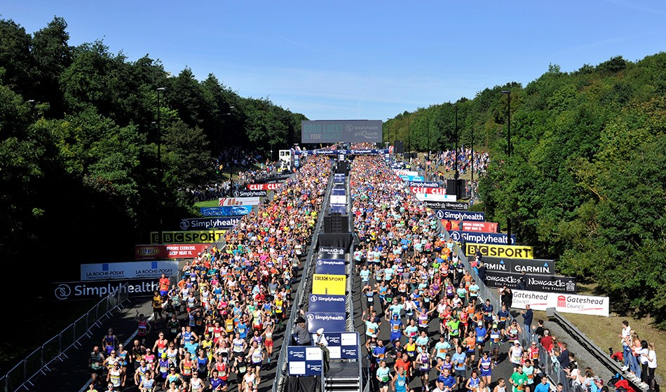 Entry ballot opens for 40th Great North Run