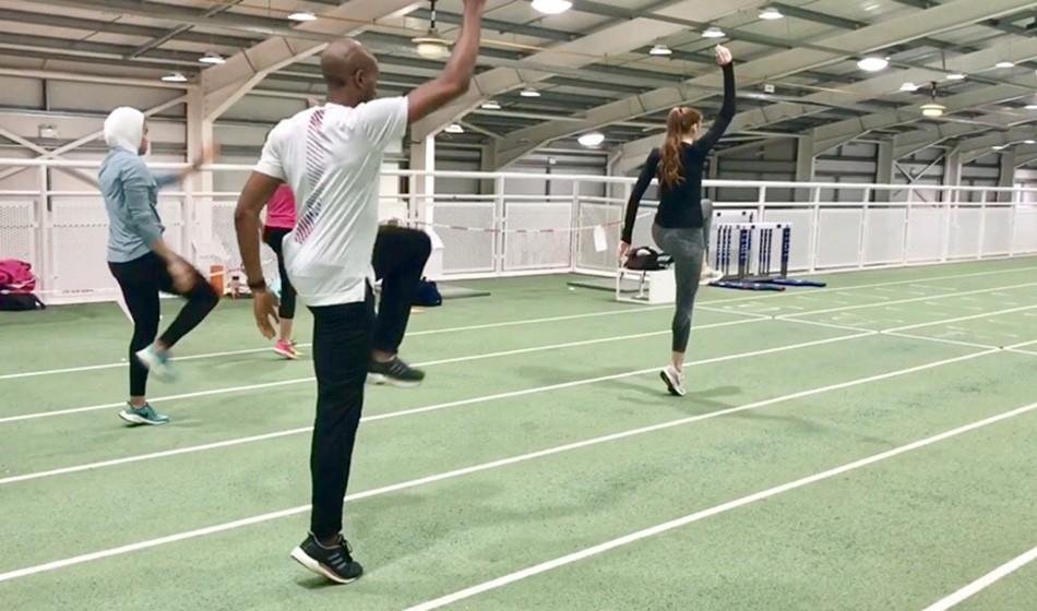 Exercise focus – alternate arm leg reach march