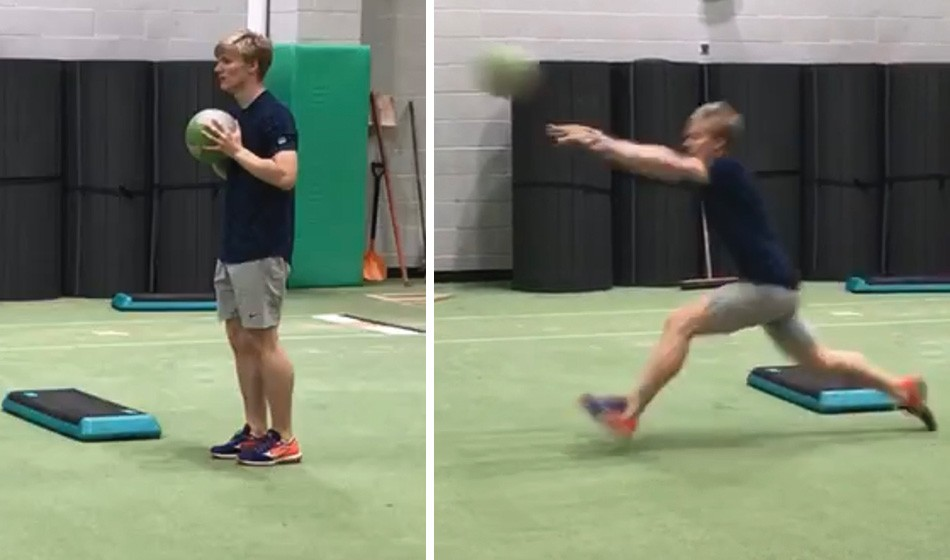 Exercise focus – med ball step and throw