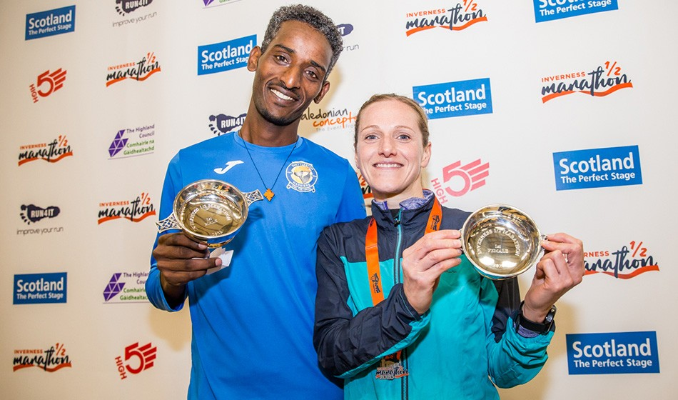 Weynay Ghebresilasie and Liz Abbott win Inverness Half – weekly round-up