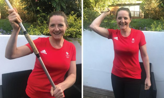 Goldie Sayers takes on javelin 2.6 Challenge